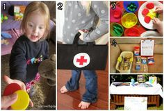 10 ideas for Pretend Play setups