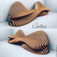 Купить параметрическая скамья - комбинированный, параметрический, диван, скамья, лавочка, bench, parametric, parametricdesign, фанера