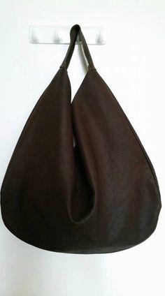 Borsa pochette in pelle borsa donna Hobo bag borsa di ChantaDesign Bago a1d34f55ce4