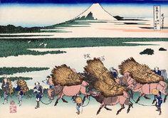 """No. 31 駿州大野新田 from 葛飾北斎~富嶽三十六景 - Hokusai's """"36 views of Mount Fuji"""""""