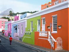No drab, gray skyscrapers here. We found beautiful photos of colorful city scenes and skylines from around the world. Cape Town, S. Africa.