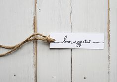 FREEBIE: 'Bon Appetit' cutlery tags | Eat, Drink, Chic