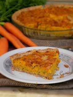 Tarte aux carottes - Une tarte originale et succulente, et qui en plus a la particularité de rendre aimable :-)