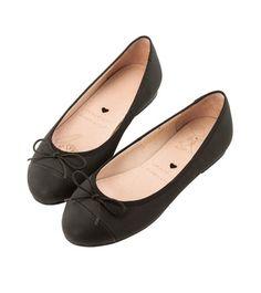 Grace giftGrace gift 官方購物網站 - 經典圓頭雙色綁帶蝴蝶結娃娃鞋