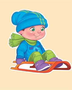 Империя Поздравлений - - Winter Fun, Winter Sports, Pictures To Paint, Cute Pictures, Olympic Crafts, Winter Activities For Kids, School Clipart, Kids Sports, Illustrations And Posters