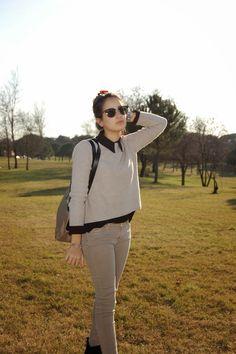 PÁLIDO INVIERNO style, outfit, pantalones de zara, jersey de mango, camisa de mango, bolso de bimba&lola, zapatos de alex silva, gafas de sol ray-ban