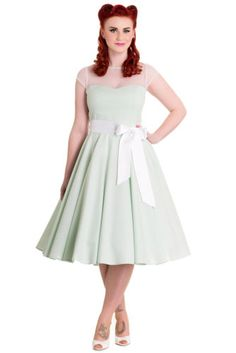 NEW-HELL-BUNNY-GREEN-MAISY-50s-ROCKABILLY-SWING-RETRO-VINTAGE-SUMMER-DRESS-8-16