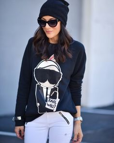 Karl Who Collection by Socialitte. Karl Lagerfeld Inspired Sweatshirt, Karl Lagerfeld Sweater, Karl Lagerfeld Sweatshirt.