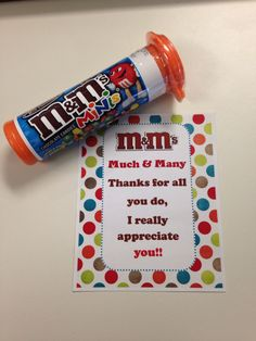 Employee Recognition; fun and inexpensive way to recognize their work and they love it