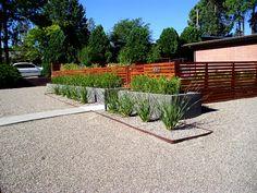 Mid Century Modern Arbor Entrance | Mid Century Modern Landscape  Albuquerque NM