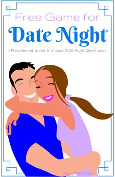 Pre-planned Game, Unique Date night questions and musical tunes for your awesome date night with your love!!! Oh I LOVE this date night idea! Sounds so fun!