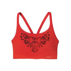 Women's Patagonia Active Mesh Bra - Ombre Stencil/Catalan Coral... ($35) ❤ liked on Polyvore featuring activewear, sports bras, orange, patagonia sportswear, mesh sports bra, athletic sportswear, red sports bra and orange sports bra