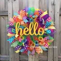 Diy spring and summer wreaths diy wreaths spring summer home say hello to summer and your guests with this bright and colorful deco mesh wreath solutioingenieria Images