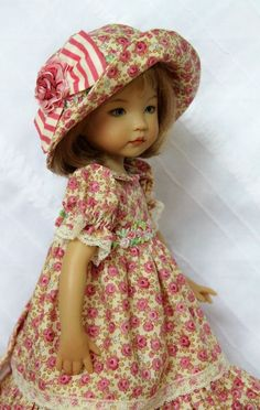 "Paris Rose OOAK Ensemble For 13"" Effner Little Darling ~ Glorias Garden"