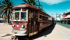 The red rattler tram to Glenelg in Adelaide, South Australia Adelaides icons Melbourne, Sydney, Australia Living, Australia Travel, Australia Beach, Places To See, Places Ive Been, Adelaide South Australia, Land Of Oz