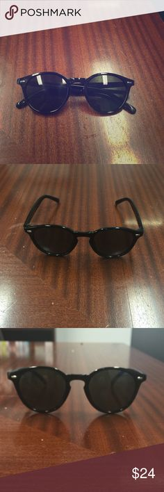 New Round Sunglasses Ray-Ban Look! Looks like ray bans but for much less! Brand new never worn. Gorgeous round black sunglasses. I can sell a case with it if you'd like, just let me know in the comments section Anthropologie Accessories Sunglasses