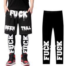 2014 new men/women fahion stree pants design for Fu*K hiphop casual leggings elastic lovers of trousers