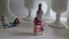 Antique Santa Light Bulb Milk Glass Santa Bulbs by ReVintageLannie