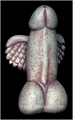Winged Phallus, found in a temple of Dionysus, in Delos Island, Greece, 300 BC