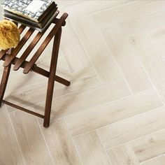 The look of real wood parquet is extremely popular, however some of our customers wanted to replicate the look with porcelain ideal for hallways, kitchens and bathrooms, and so we had this gorgeous new tile made for us in Italy. The tiles, which are a st Wet Room Flooring, Kitchen Flooring, Wall And Floor Tiles, Bathroom Floor Tiles, Downstairs Bathroom, Wood Parquet, Tile Installation, St Ives, Wet Rooms