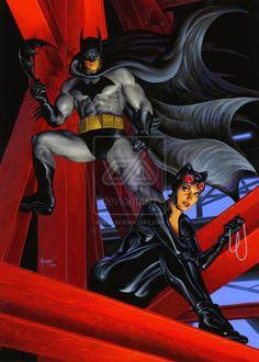 Batman and Catwoman by Joe Jusko