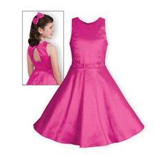 Fuchsia Shimmer Girls Dress