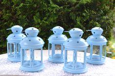 Blue Metal Lanterns Blue Baby Shower by MoreFriendsAndCo on Etsy