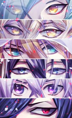 The Eyes of Several Touken Ranbu Characters