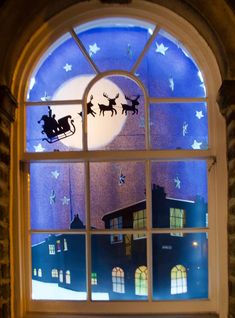 Saltaire Living Advent Calendar display set to be biggest yet Christmas Window Display Retail, Christmas Shop Displays, Christmas Window Decorations, Christmas Door, Christmas Crafts, Boxing Day, Window Art, Window Ideas, Retail Displays