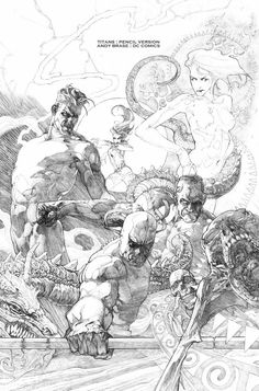 Titans cover pencil art by Andy Brase! (DC comics)