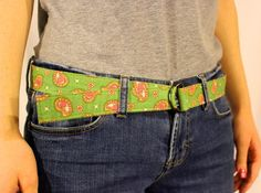 Free Sewing Pattern: Fabric Belt