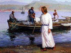 Jesus fishing
