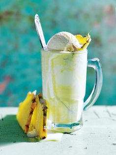 pineapple and ginger beer spiders