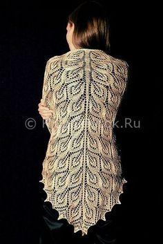 Шаль и палантин спицами | Вязание для женщин | Вязание спицами и крючком. Схемы вязания.