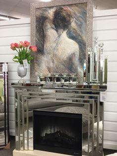Mirrored Fireplace!!!