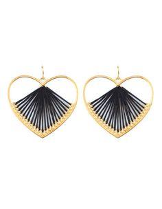 Threaded Heart Earrings from Charlotte Russe
