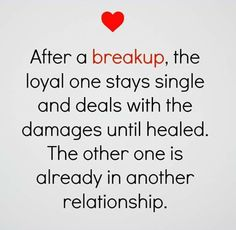This sounds so true, especially with the last ex. No dating for me almost 2 until recently.