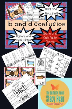 This product contains a classroom poster and individual desk posters with a neat little trick for correcting reversal of b and d. It also includes a hat and bracelet along with worksheets and a center activity for additional practice. Literacy Activities, Literacy Skills, Printing Practice, Teaching Language Arts, Special Education Classroom, Classroom Posters, Early Literacy, Letter B, Kindergarten Teachers