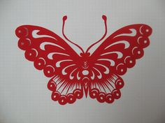 Papercutting butterfly