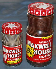 jars of instant Maxwell House coffee