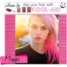 """How to dye your hair with kool-aid"" by box-of-tips on Polyvore"