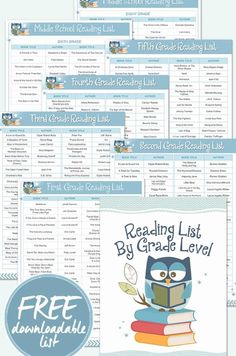 Homeschool Book List By Grade Level What should my child read? How do I know if it will be too easy or too hard? These are common questions among homeschool parents. Fortunately, the answers are right at your fingertips! Third Grade Reading, Middle School Reading, Kids Reading, Teaching Reading, Reading Lists, Free Reading, Book Lists, Reading Skills, Guided Reading