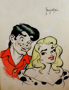 Daisy Mae & Li'l Abner  Artist:Frank Frazetta  Date:1958  Thanks to Grapefruit Moon Gallery