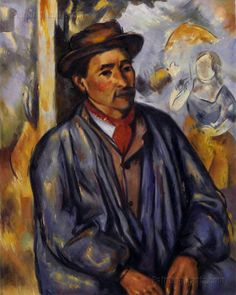Peasant in Blue by Paul Cezanne