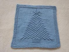 Christmas Tree II Dishcloth | Craftsy