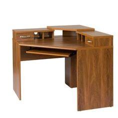 Corner Desks For Home Office Solid Wood Corner Desk With Monitor Platform Keyboard Shelf And Home Depot Corner Desks Home Office Furniture The Home Depot