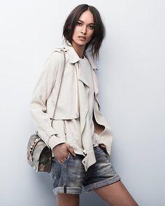 intermix spring trend report // a.l.c. jacket, rag & bone shorts, valentino bag