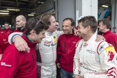 Qualirennen Nürburgring: Glückliche Fahrer / Qualification race Nürburgring: Happy drivers