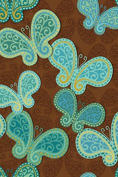 My World of Colours Indian Patterns, Textures Patterns, Print Patterns, Blue Butterfly Wallpaper, Butterfly Art, Butterflies, Green Pattern, Paisley Pattern, Paisley Design