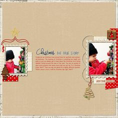 """Digital Scrapbook Inspirational Layout for Christmas made with """"A Little Sparkle"""" kit on Sahin Designs, Layout by Maia"""